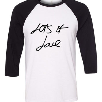 "One Direction ""Lots of Love Autograph"" Baseball Tee"