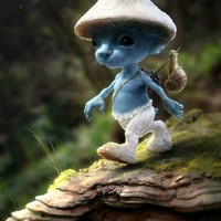 """Smurf Sighting"" - Art Print by Nate Hallinan"