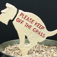 "Painted Dog ""Keep Off The Grass"