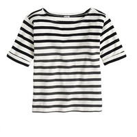 Lightweight terry tee in stripe - knits - Women's xxs - J.Crew