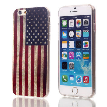 USA Flag TPU Case For Apple iPhone 6 6S