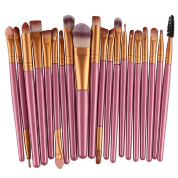 20Pcs/Pack Makeup Brushes Set Eye Shadow Foundation Power Eyebrow Lash Lip Contour Blending Beauty Cosmetic Brush Tool Maquiagem