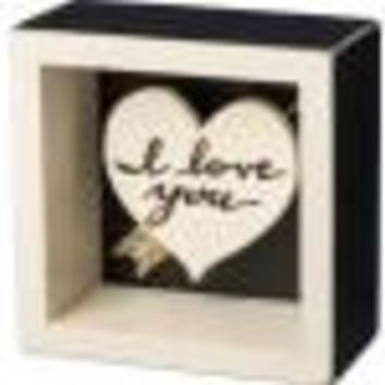 I Love You Box Sign By Primitives By Kathy