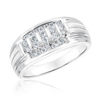 Men's Round Diamond Ring 1/2ctw