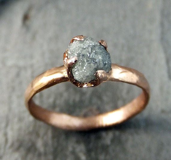 Raw Diamond Solitaire Engagement Ring From By Angeline