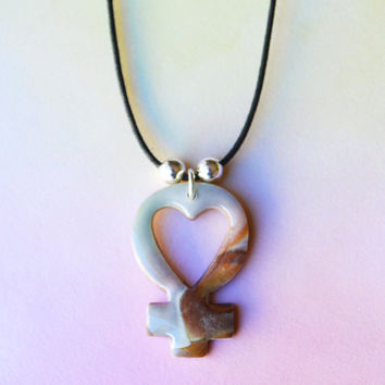 Feminist Sandstone Heart Choker Necklace Jewelry // Spring, Feminism, Riot Girl, Heart Necklace, Indie Jewelry, Grunge Jewelry, Grunge