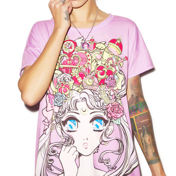 Japan L.A. Moonlight Legend Boxy Tee Pink
