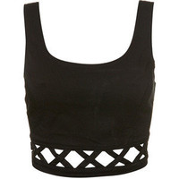 Lattice Cropped Vest