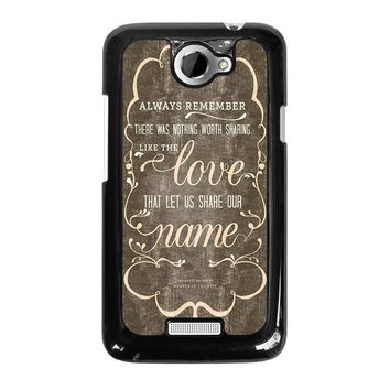 THE AVETT BROTHERS QUOTES HTC One X Case Cover