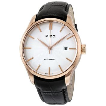 Mido Belluna II Rose Gold PVD Stainless Steel Mens Watch M024.407.36.031.00