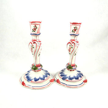 Majolica Candlestick Holders Made in Italy for The Metropolitan Museum of Art