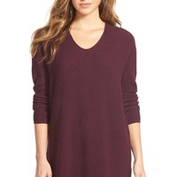 Women's Bobeau V-Neck Tunic Sweater,