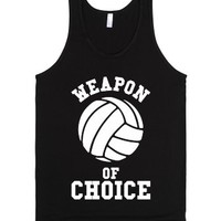 Weapon Of Choice (Volleyball)-Unisex Black Tank