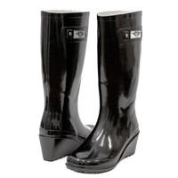 Forever Young Women Wedge Rubber Rain Boots