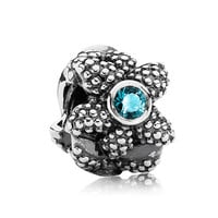Pandora Sea Star with Synthetic Turquoise Spinel Charm