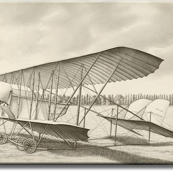 Vintage Aircraft Airplane, British Caudron Picture on Acrylic , Wall Art Décor, Ready to Hang