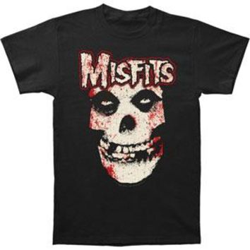Misfits Men's  Bloody Skull T-shirt Black