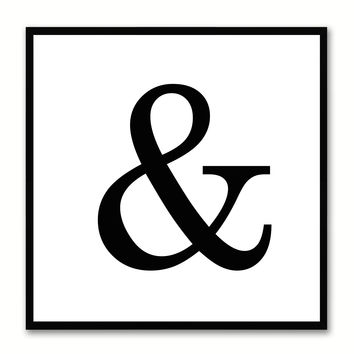 Ampersand Social Media Icon Canvas Print Picture Frame Wall Art Home Decor