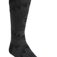 Men's Stance 'Denver' Geometric Socks, Size Large/X-Large - Black
