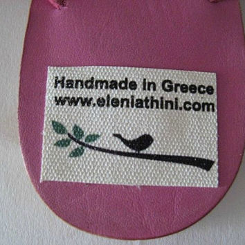 Pink Leather Flip Flops! Womans sandals! Handmade sandals for women! Genuine Leather