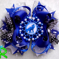 My Little Pony Hair Bow , Princess Luna hair Bow   , My little pony stacked bow , ott bow