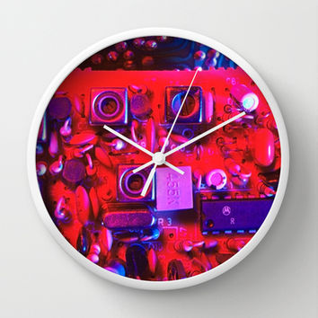 Circuit board from the past Wall Clock by Bruce Stanfield