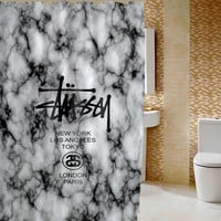 "New Stussy Logo Marble Best Design Art High Quality Shower Curtain 60"" x 72"""