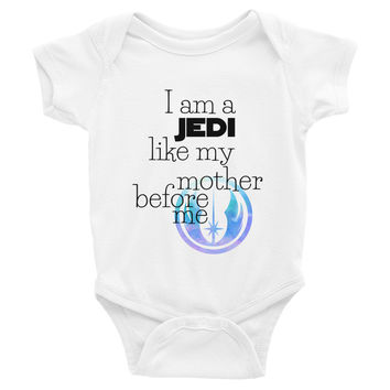 Jedi Like My Mother Infant Bodysuit