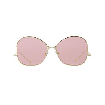 Spektre - See You Soon Gold Sunglasses / Pink Pastel Lenses