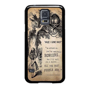 alice in wonderland bonkers samsung galaxy s5 cases