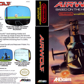 Airwolf - Nintendo NES (Ugly Game Only)