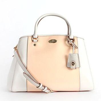 Coach Crossgrain Small Margo Satchel - Apricote/Chalk