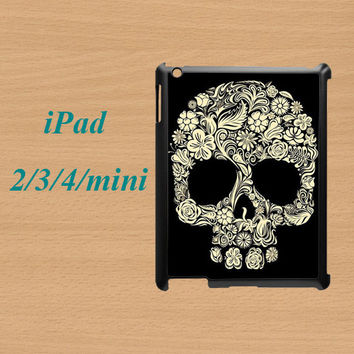 ipad mini case,ipad mini cover,cute ipad mini case,ipad 2 case,ipad 3 case,ipad 4 case,ipad air case,cute ipad air case--skull,in plastic.