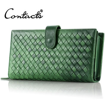 Ladies Handcrafts Bags Leather Multi-function Wallet [9338183815]