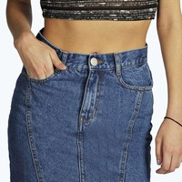 Lissa Panelled Denim Mini Skirt