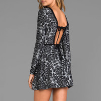 DV by Dolce Vita Azalia Baroque Knit Dress in Black/Grey from REVOLVEclothing.com