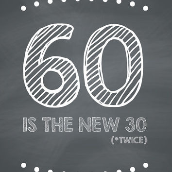 Funny 60th Birthday Card - 60 Is The New 30 Twice
