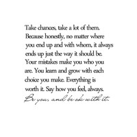 Take Chances, Take A Lot of Them