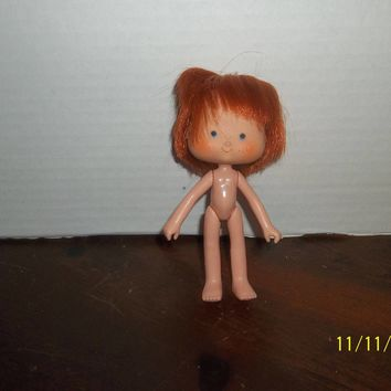 "vintage 1980's strawberry shortcake doll curved hands naked 5 1/4"" tall #3"
