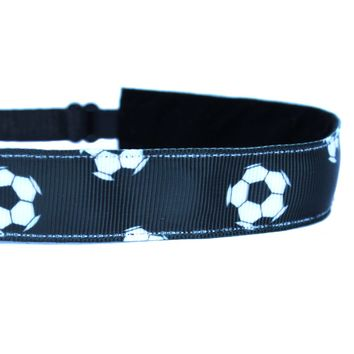 Black Soccer Headband