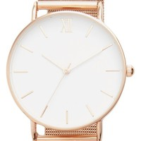 Topshop Look Mesh Strap Watch, 40mm | Nordstrom