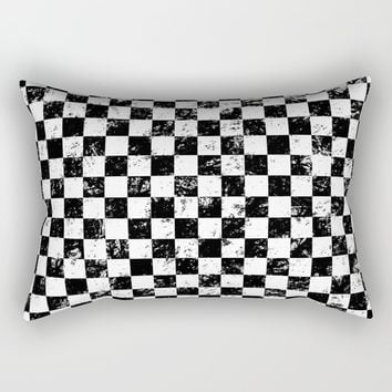 Checkers Rectangular Pillow by textart