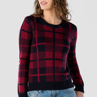 DAVENPORT PLAID PULLOVER SWEATER