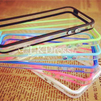 6Pcs Colorful Clear Bumper Frame Case for iPhone 5 [5090]