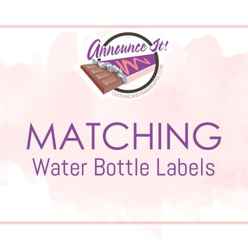 Matching Water Bottle Labels