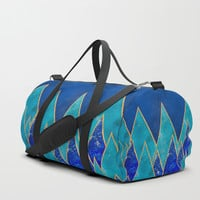 Gemstone mountains Duffle Bag by vivigonzalezart