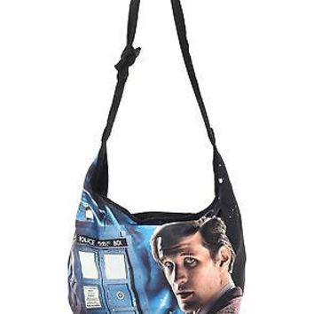Licensed cool BBC Dr  Who 11th Doctor Matt Smith Tardis Hobo Bag Beach Tote Crossbody Purse