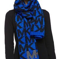 Logo Scarf with Pin-Dot Stud Detail, Amalfi Blue, AMALFI BLUE - MICHAEL Michael Kors