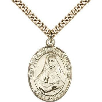 "Saint Rose Philippine Medal For Men - Gold Filled Necklace On 24"" Chain - 30 ... 617759015966"