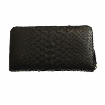 Lori Python  Black Clutch Wallet